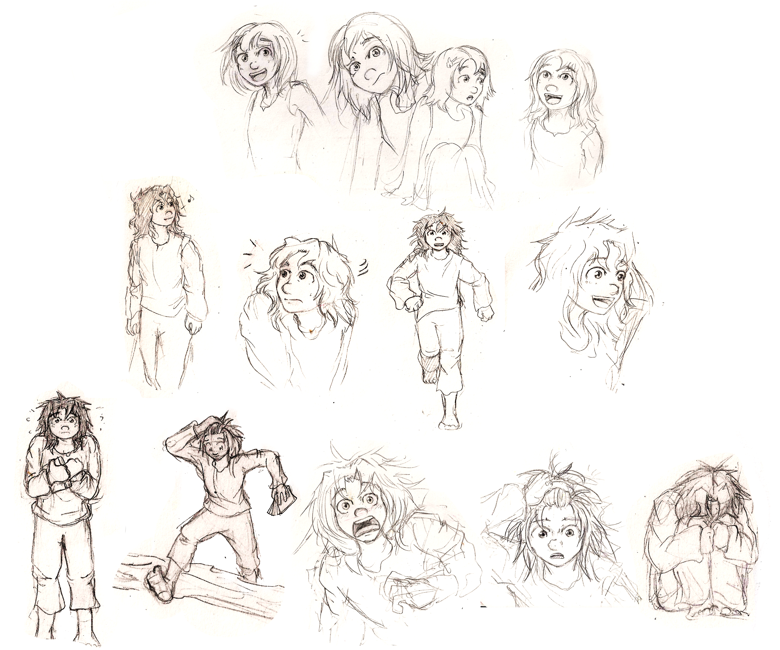 Character concepts (sketches)