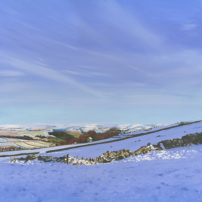 Snow at Bretton, Derbyshire