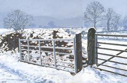 Snow at Hawkshead, Cumbria