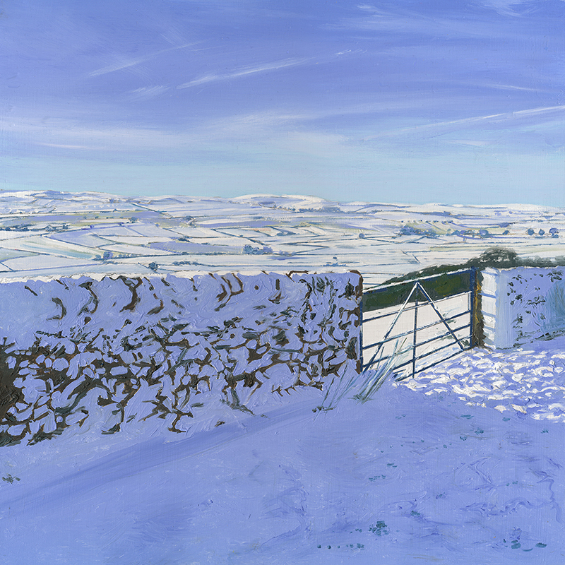 Snowed in at Bretton, Derbyshire