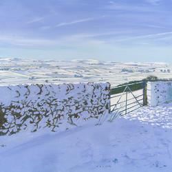 Snowed in at Bretton, Derbyshire