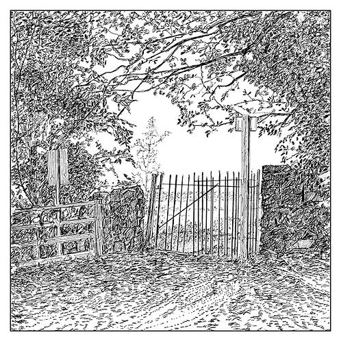 Gate into Jubilee Wood
