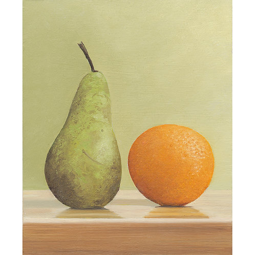 Study of a Pear and an Orange