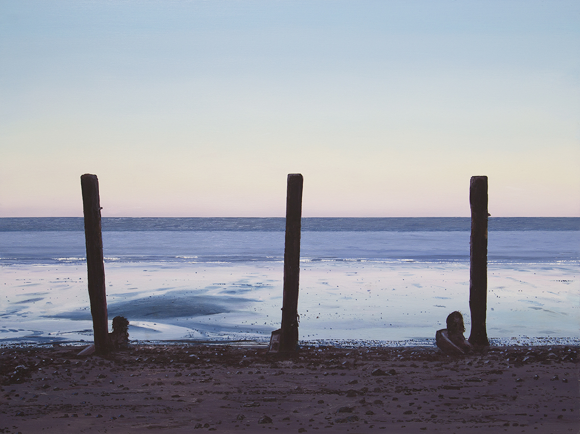 Three Posts at Sheringham Beach, Norfolk