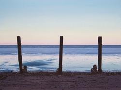 Three Posts at Sheringham Beach, Norfolk