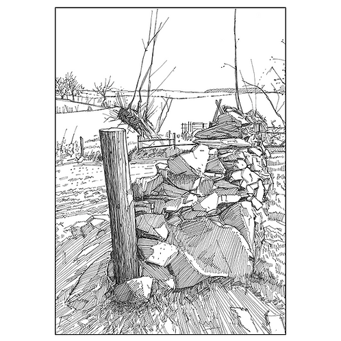 Dry Stone Wall by the Permissive Path