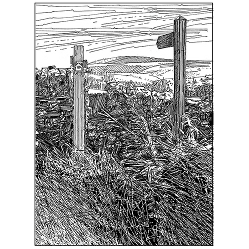Wooden Posts and A Stone Stile