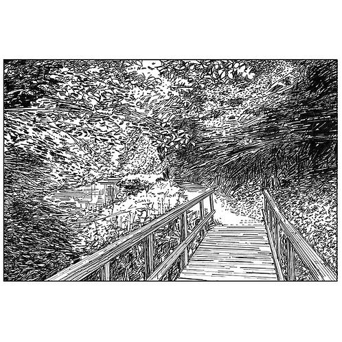Bridge Over the River Dove at Beresford Dale, Derbyshire