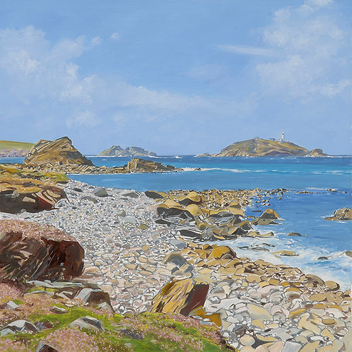 View Towards Round Island, The Isles of Scilly, Cornwall