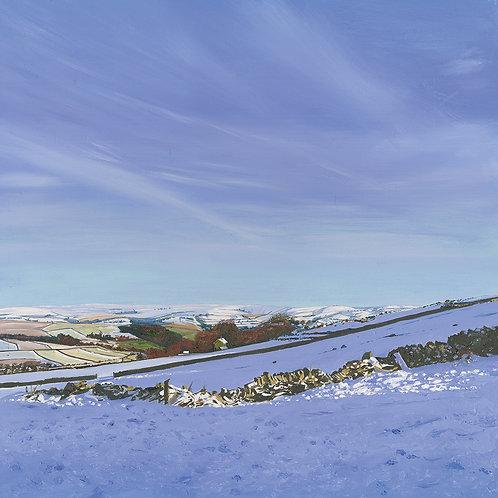 Snow at Bretton, Derbyshire