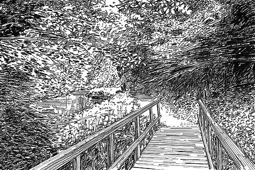 Bridge Over the River Dove, Derbyshire