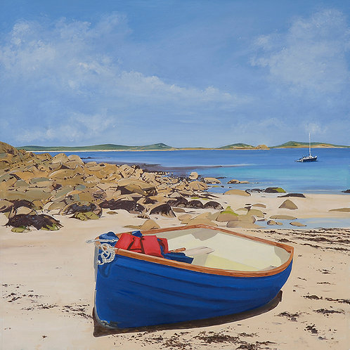Ashore at Watermill Cove, St Mary's Island, The Isles of Scilly, Cornwall
