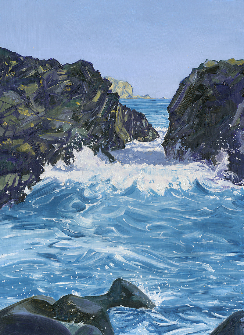 Incoming Tide at Kynance Cove, Cornwall