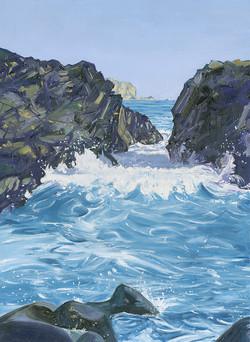 Incoming Tide at Kynance Cove, Cornwall