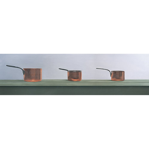 Three Copper Pans at Cothele