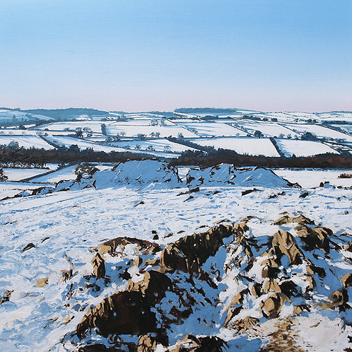Snow at the Beacon, Leicestershire
