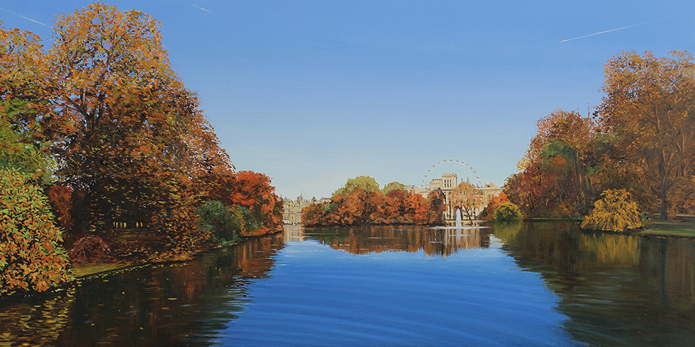 View Towards the London Eye from St James Park