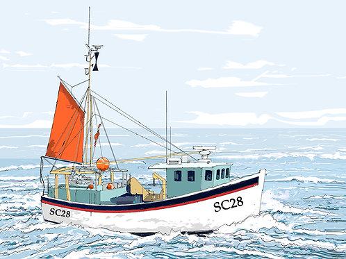 SC28, Approaching Newlyn, Cornwall
