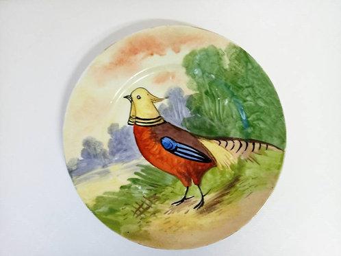 """Коллекционная тарелка """"Золотой фазан"""""""