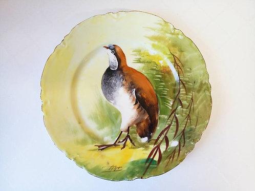 "Коллекционная тарелка "" Куропатка"""
