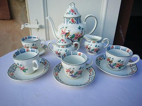 Чайный сервиз на 4 персоны Royal Tudor Blue Bird, Редкий, Англия, 60-е (МА)