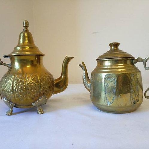 Два чайника из латуни, один краше другого!