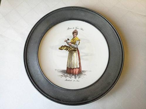 "Коллекционная тарелка на стену  ""Продавщица орехов"""