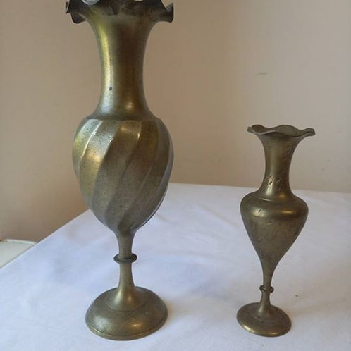 Пара ваз из латуни, Индия 70гг