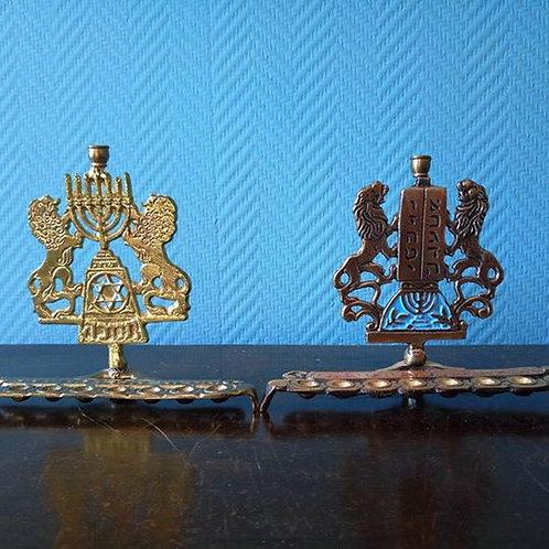 Две Ханукии на 9 свечей, бронза, Израиль 80гг