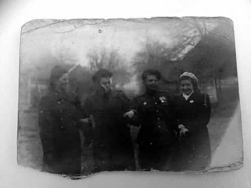 Фотография 1945 год, подпись