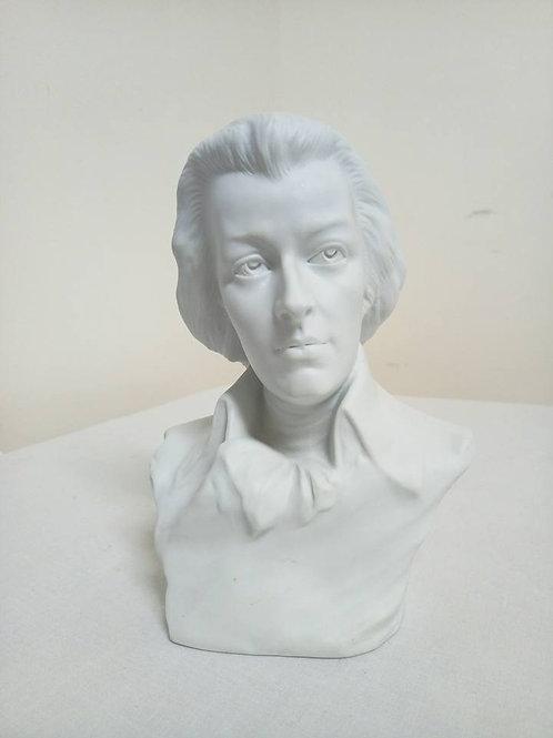 Бюст Моцарта, фарфор