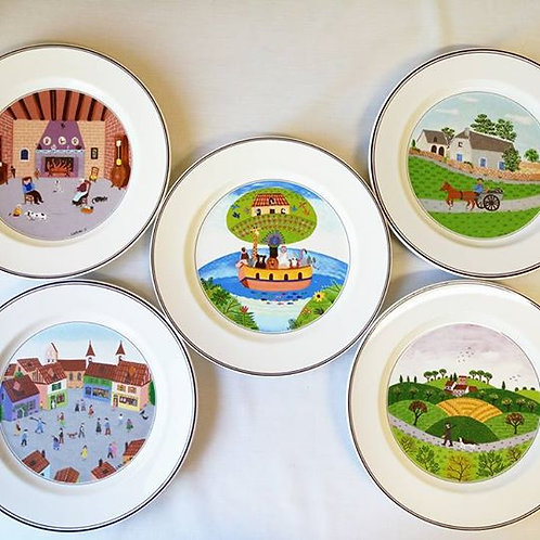 Пять колекционных тарелок Villeroy & Boch