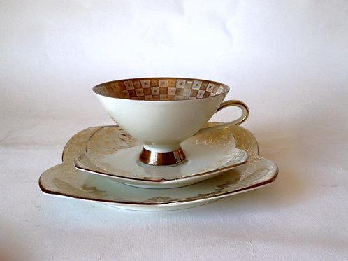 Чайное трио Winterling Бавария, фарфор, позолота (МА)