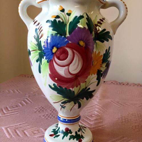 Фаянсовая ваза из Франции ручной росписи