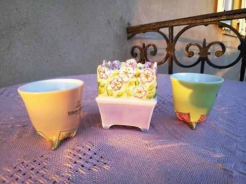 Набор из двух пашотниц и солонки, фарфор, коллекция Villeroy & Boch