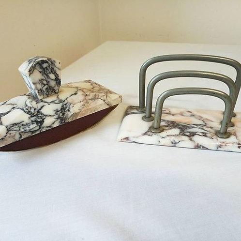 Набор для письменного стола из мрамора