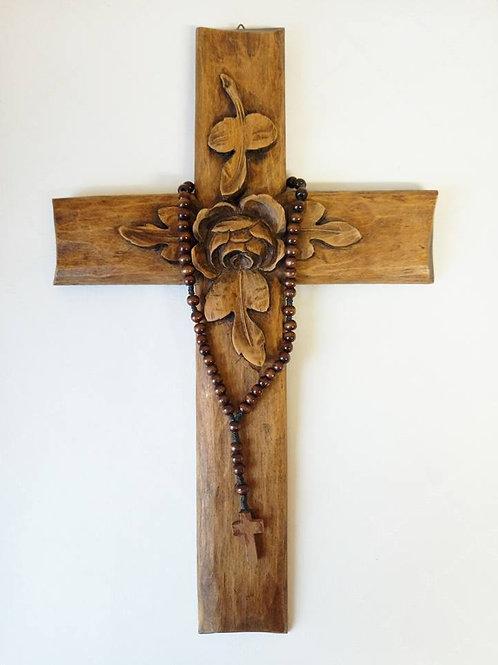 Деревянный резной крест ордена Розенкрейцеров