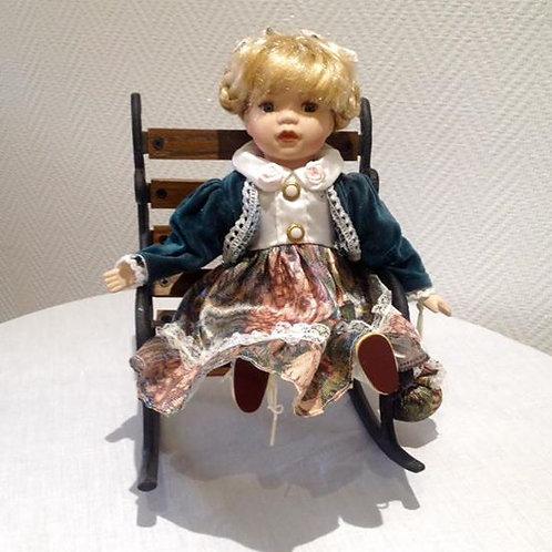 Фарфоровая немецкая кукла 80гг