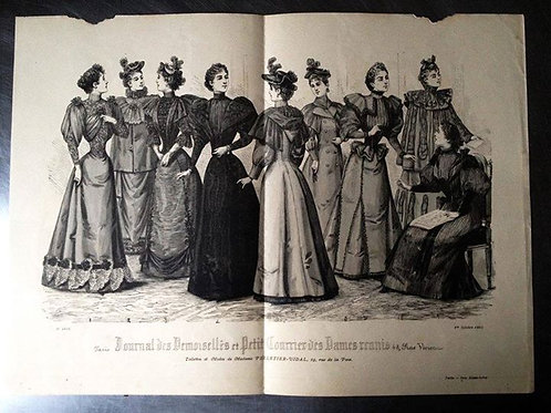 Иллюстрация из французского журнала мод Des Demoiselles