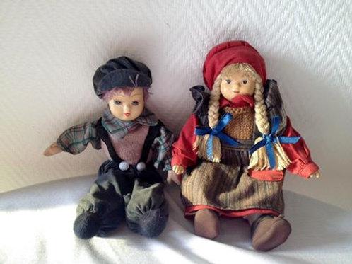 Фарфоровые Куклы мальчик и девочка. Франция 80 гг