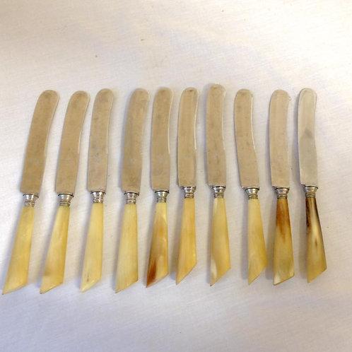 10 английских ножей для масла, середина 20го века.