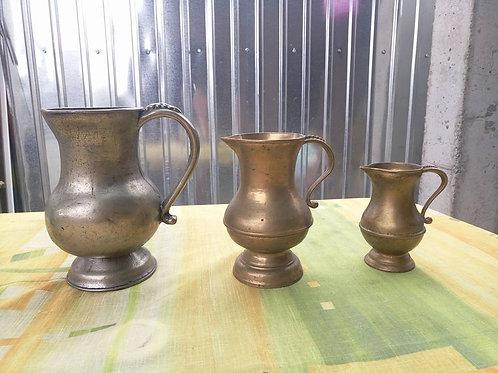 Три кувшина из массива бронзы, при покупке всех трех- скидка!