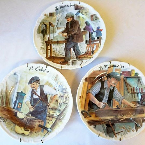 """Три коллеционные тарелки-панно на стену """"Мастеровые"""""""