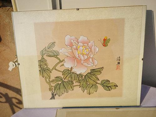 Ручная роспись на рисовой бумаге, Китай, 50-е