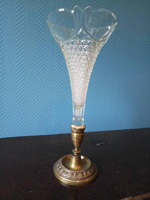 Ваза, стекло, бронза, Франция конец 19 века