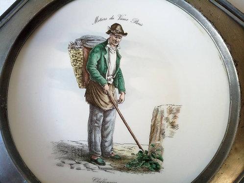 Коллекционная тарелка на стену из серии профессии старого Парижа