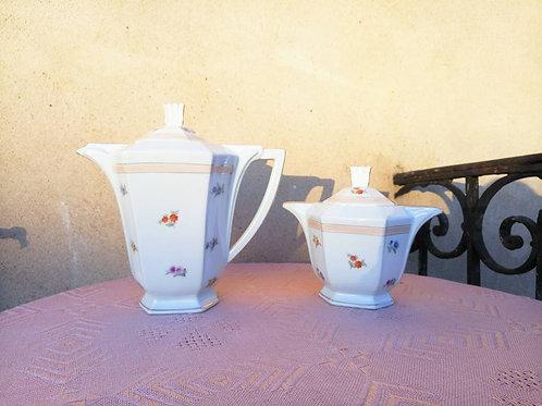 Стильный дуэт: Большой чайник и сахарница