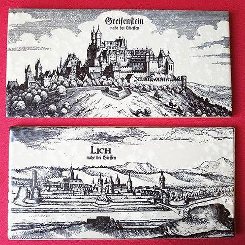 Настенная керамическая плитка- декор с Пейзажами городов Германии