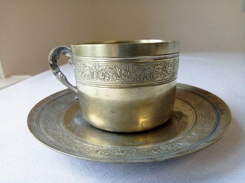 Большая чайная пара, серебрение (МА)