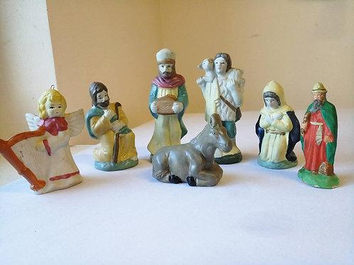 Семь статуэток для Рождественского вертепа